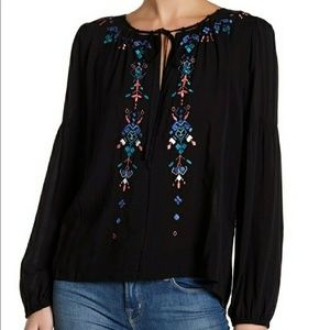 Parker Embroidered Peasant Boho Blouse